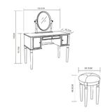Toaletni stolić Charlotte Savoy